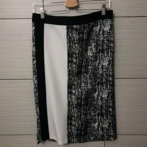 Multi color straight skirt